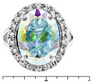 Multi-color Mercury Mist (R) Mystic Topaz®  Sterling Silver Ring 10.95ctw