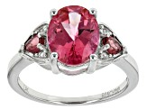 Pink Mexican Danburite Sterling Silver Ring 2.37ctw