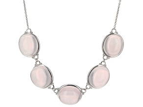 Pink Rose Quartz Sterling Silver Necklace