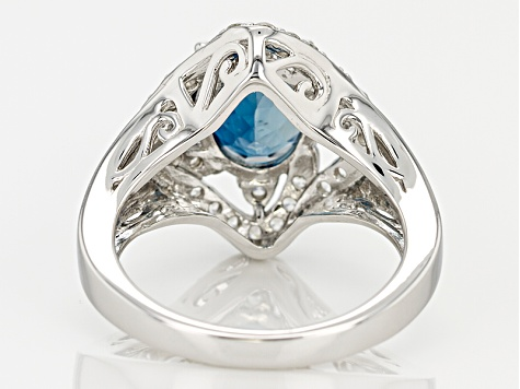 London Blue Topaz Sterling Silver Ring 3.30ctw