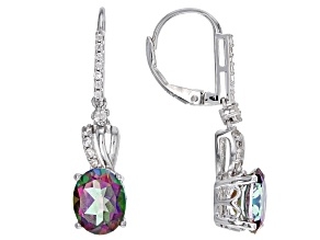 Multicolor Topaz Sterling Silver Earrings 6.11ctw