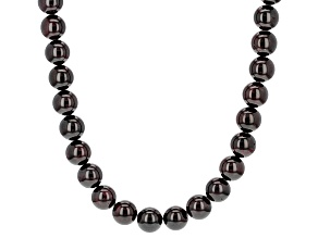 Red Garnet Sterling Silver Necklace 312.00ctw