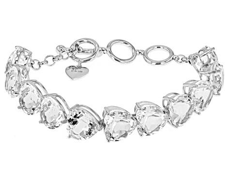 White Quartz Sterling Silver Bracelet 65 60ctw