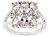 Pink Morganite Sterling Silver Ring 2.06ctw