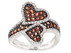 Red Garnet Sterling Silver Ring 1.88ctw