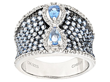 Picture of Blue Spinel Sterling Silver Ring 2.51ctw