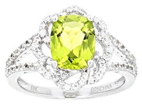 Green Peridot Sterling Silver Ring 2.35ctw