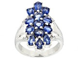 Blue Kyanite Sterling Silver Ring 3.88ctw