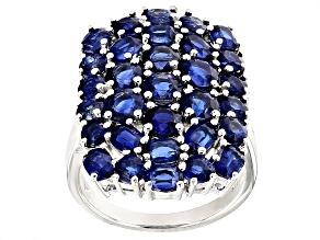 Blue Kyanite Sterling Silver Ring 6.55ctw