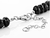 Black Spinel Sterling Silver Necklace 280.50ctw