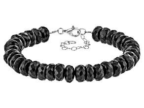 Black Spinel Sterling Silver Bracelet 170.00ctw