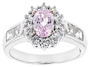 Pink Kunzite Sterling Silver Ring 2.28ctw