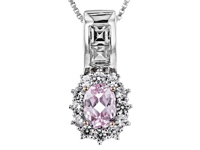 Pink Kunzite Sterling Silver Pendant With Chain 1.84ctw