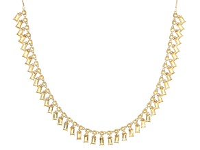 Yellow Citrine 18k Yellow Gold Over Silver Adjustable Bolo Necklace 12.50ctw