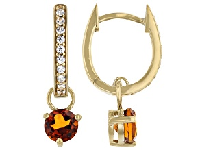 Madeira Citrine 18k Yellow Gold Over Silver Dangle Earrings 1.58ctw