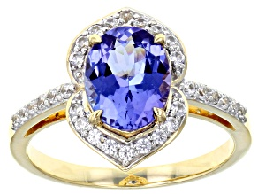 Blue Tanzanite 10k Yellow Gold Ring 1.71ctw