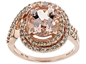 Pink Morganite 10k Rose Gold Ring 3.01ctw