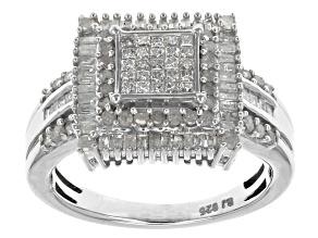 Diamond Sterling Silver Ring .95ctw
