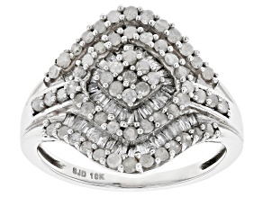 White Diamond Ring 10k White Gold 1.00ctw