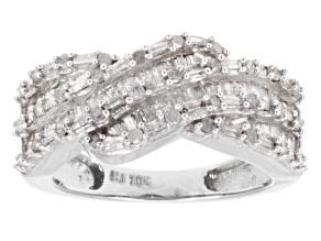 White Diamond Ring 10k White Gold 1.00ctw