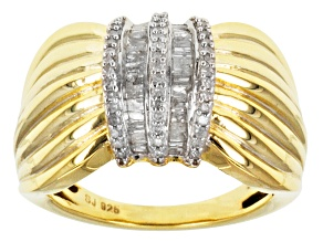 Diamond 14k Yellow Gold Over Silver Ring .45ctw