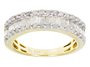 Diamond 14k Yellow Gold Over Sterling Silver Band .90ctw