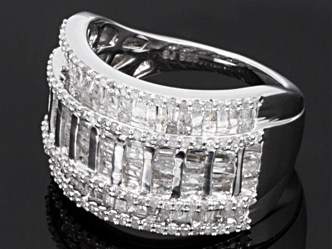 Diamonds Sterling Silver Band 1.40ctw