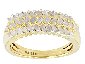 Diamond 14k Yellow Gold Over Silver Ring .65ctw