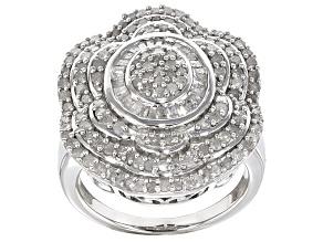 Diamond Sterling Silver Ring 2.20ctw