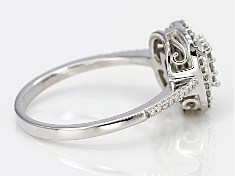 Diamond 10k White Gold Ring .45ctw