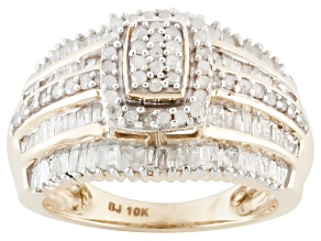 Diamond 10k Yellow Gold Ring 1.10ctw