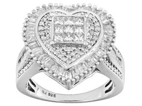 Diamond Sterling Silver Ring 1.50ctw