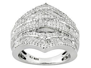 Diamond Silver Ring 1.2ctw