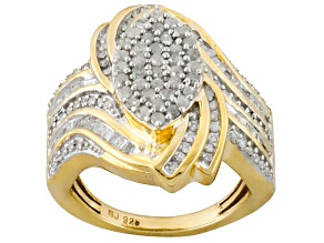 14k Yellow Gold Over Silver Ring 1.00ctw