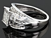 Diamond 10k White Gold Ring .55ctw