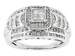 Diamond Silver Ring .65ctw