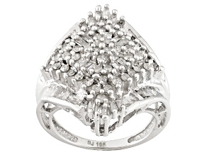 Diamond 10k White Gold Ring 1.55ctw