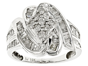 Diamond 10k White Gold Ring 1.10ctw