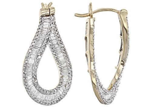 6ca57f0eb Diamond 10k Yellow Gold Earrings 2.05ctw - SBG276 | JTV.com