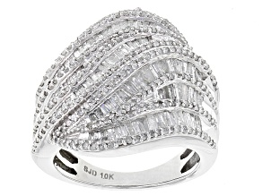 Diamond 10k White Gold Ring 1.65ctw