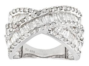 Rhodium Over Sterling Silver Diamond Ring 1.45ctw