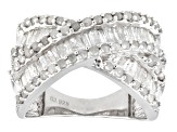 Rhodium Over Sterling Silver Diamond Ring 1.45ctw