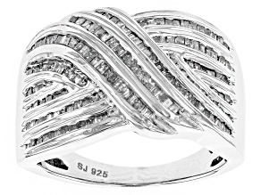 Rhodium Over Sterling Silver Diamond Ring 1.00ctw
