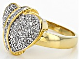 White Diamond 14k Yellow Gold Over Sterling Silver .40ctw