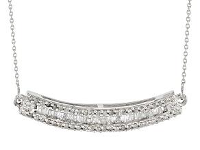 White Diamond 10k White Gold Necklace .40ctw