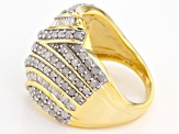 White Diamond 14k Yellow Gold Over Sterling Silver Ring 1.75ctw