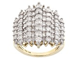 White Diamond 10k Yellow Gold Ring 2.40ctw