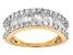 White Diamond 10k Yellow Gold Ring 1.25ctw