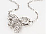 White Diamond Rhodium Over Sterling Silver Necklace .45ctw