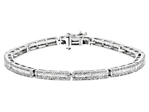White Diamond 10k White Gold Bracelet 2.85ctw